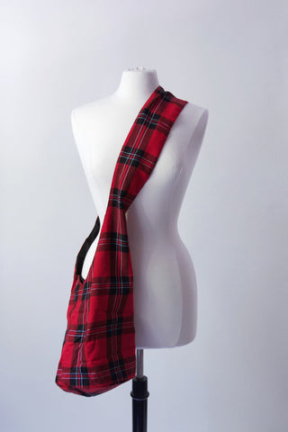 Cross-Body Fabric Bag - Buffalo Plaid