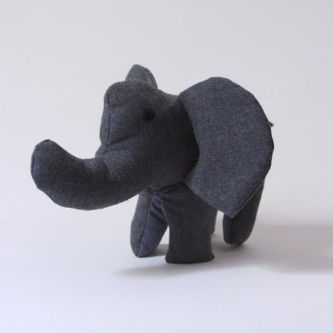 Safari Stuffed Animal - Grey Elephant