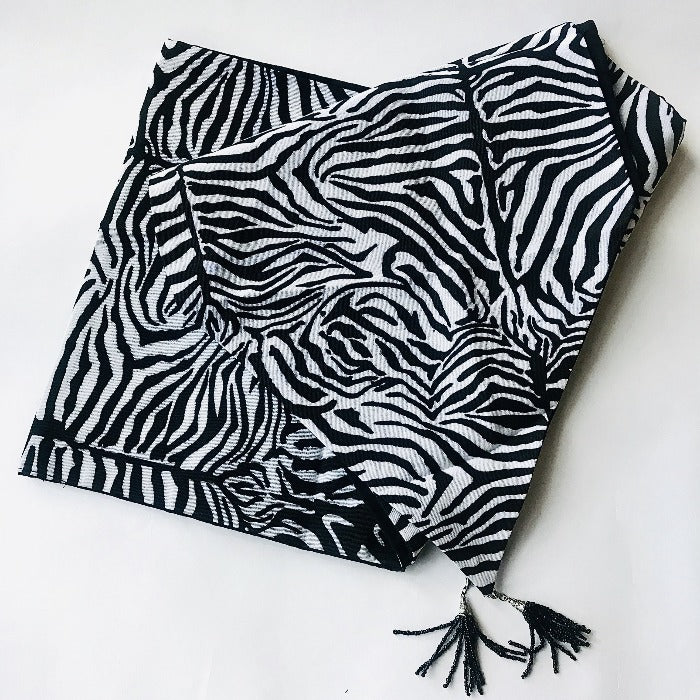 Zebra Fabric Table Runner