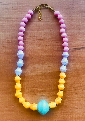 Toto Child  Paper Bead Necklace - Natalie