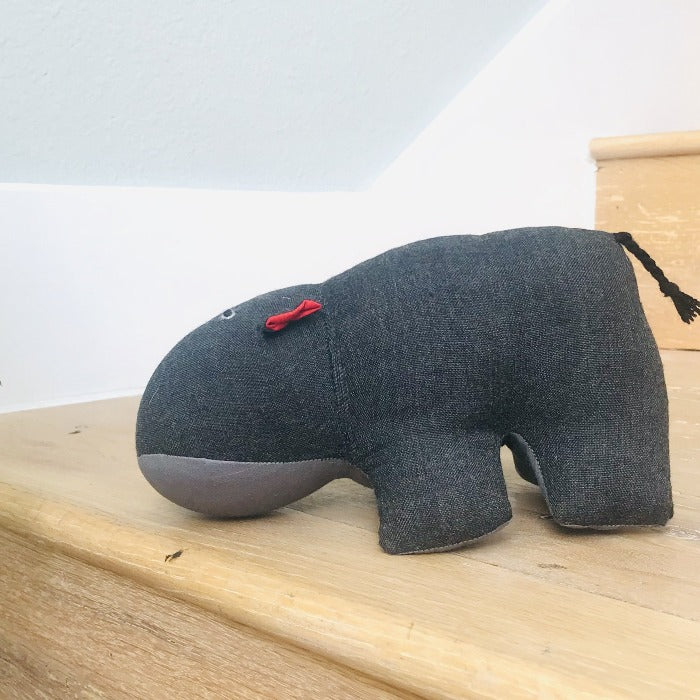 Stuffed Hippo - Grey