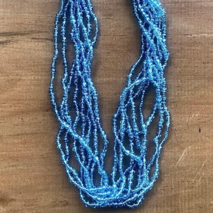 Toto Child Seed Bead Necklace - Blue