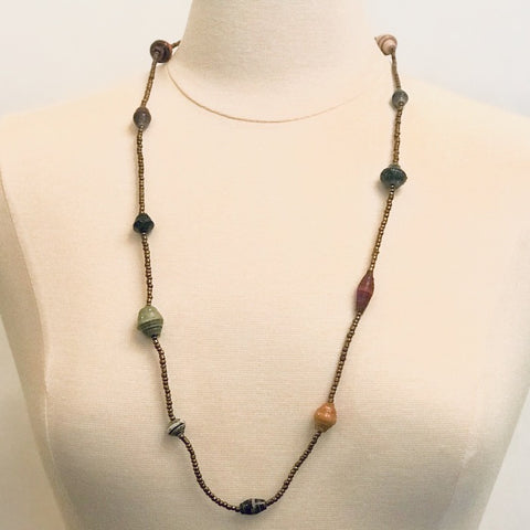 Simplicity Paper Bead Necklace