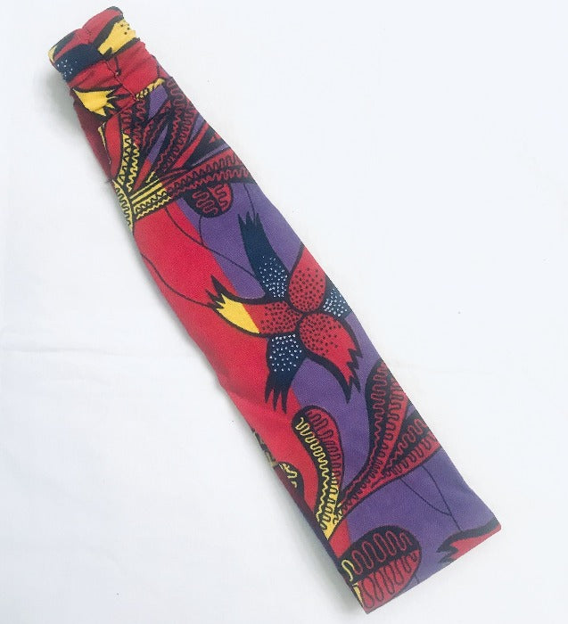 Kanga Fabric Headband - Purple/Red