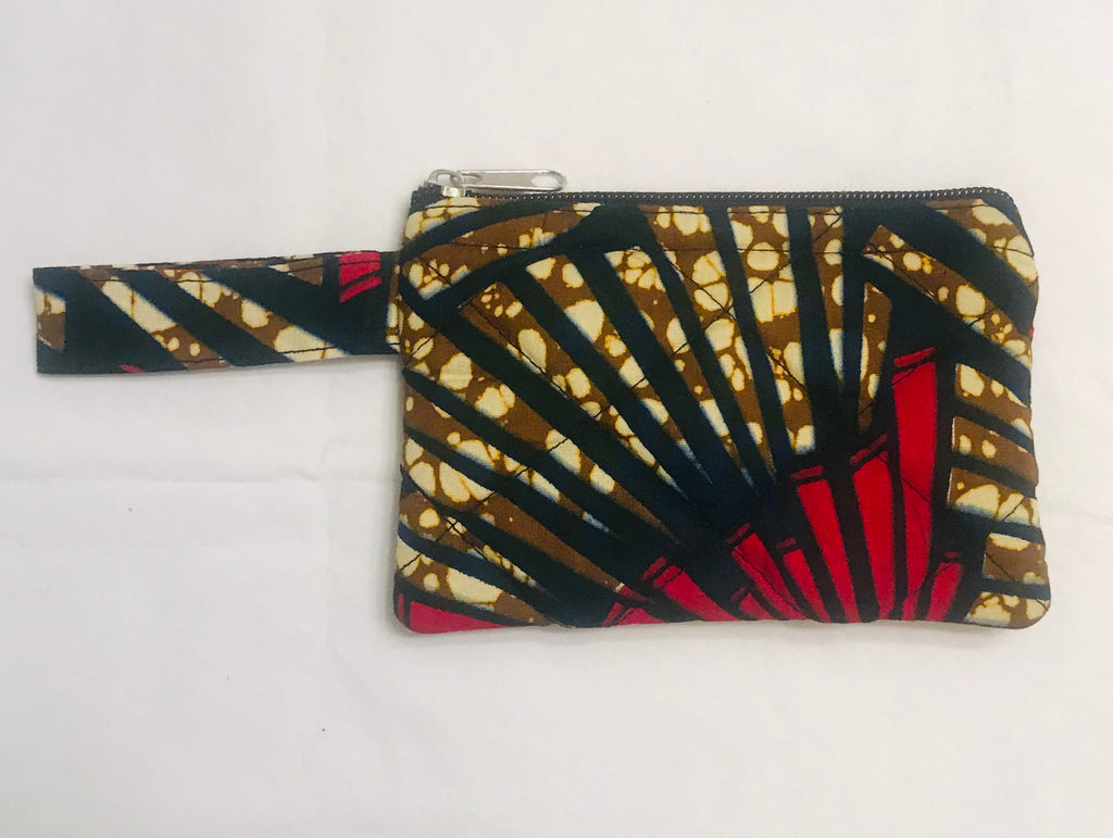 Medium Zipper Pouch - Yellow/Red Kanga
