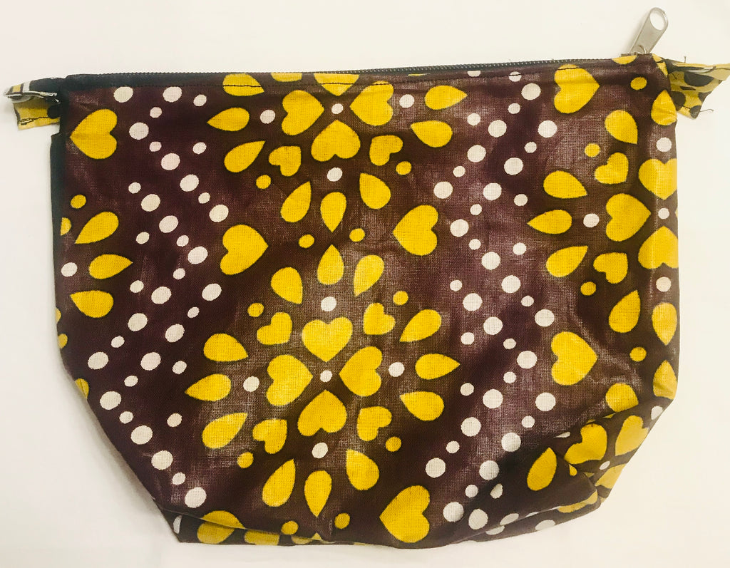 Toiletry Bag - Yellow Flowers Kanga