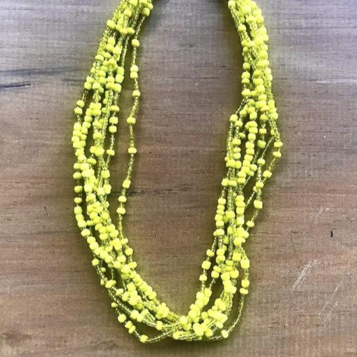 Toto Child Beaded Necklace - Yellow