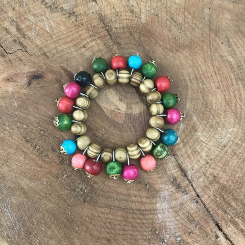 Toto Child Wood Bracelet Multi