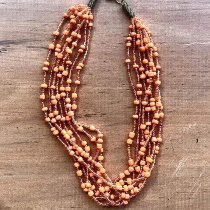 Toto Child Seed Bead Necklace - Orange