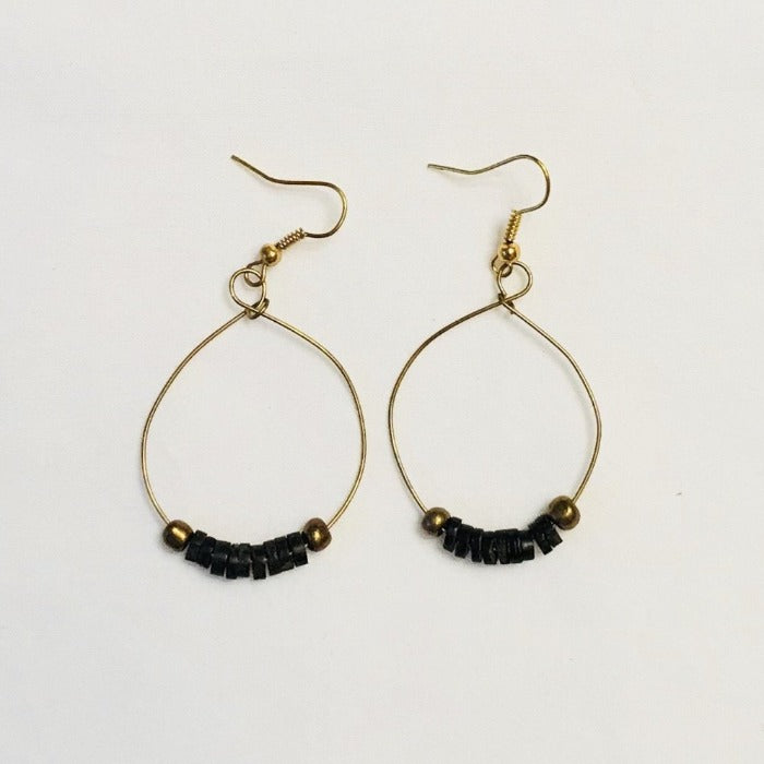 Gold Wire Coconut Hoops