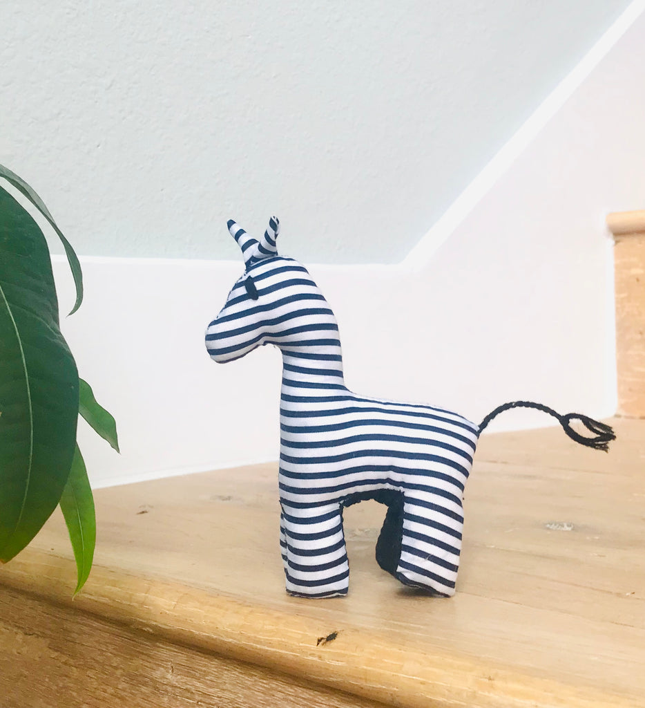 Tiny Stuffed Zebra