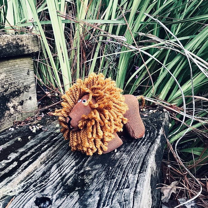 Tiny Stuffed Lion - Brown