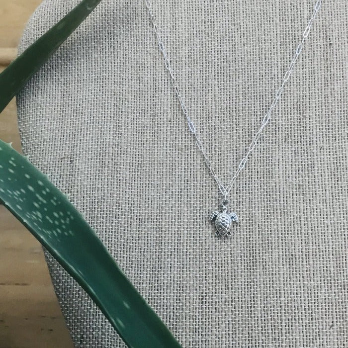 Sterling Silver Turtle Necklace