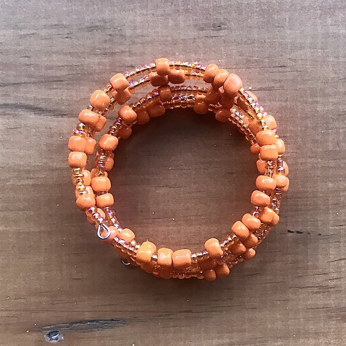 Toto Child Bead Wrap Bracelet - Orange
