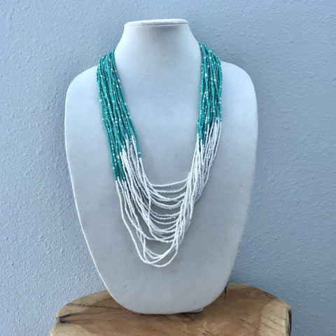 Serenity Beaded Cascade Necklace