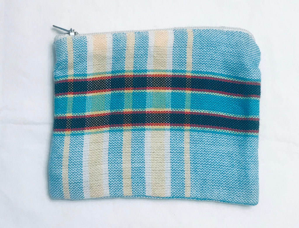Kikoy Fabric Blue-Yellow Unisex Wallet