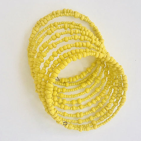 Yellow Maasai Coiled Bracelet