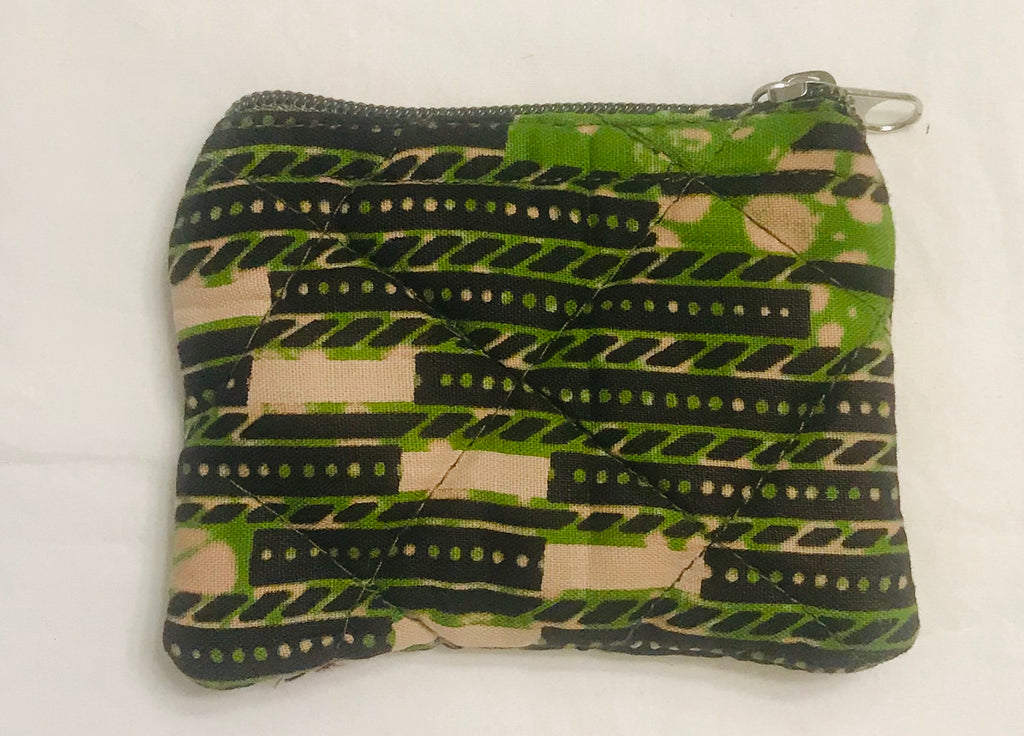 Mini Zipper Pouch - Green/Black Kanga