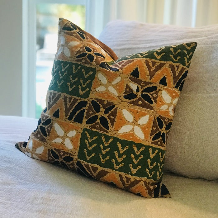 Kenyan Cloth Square Pillow