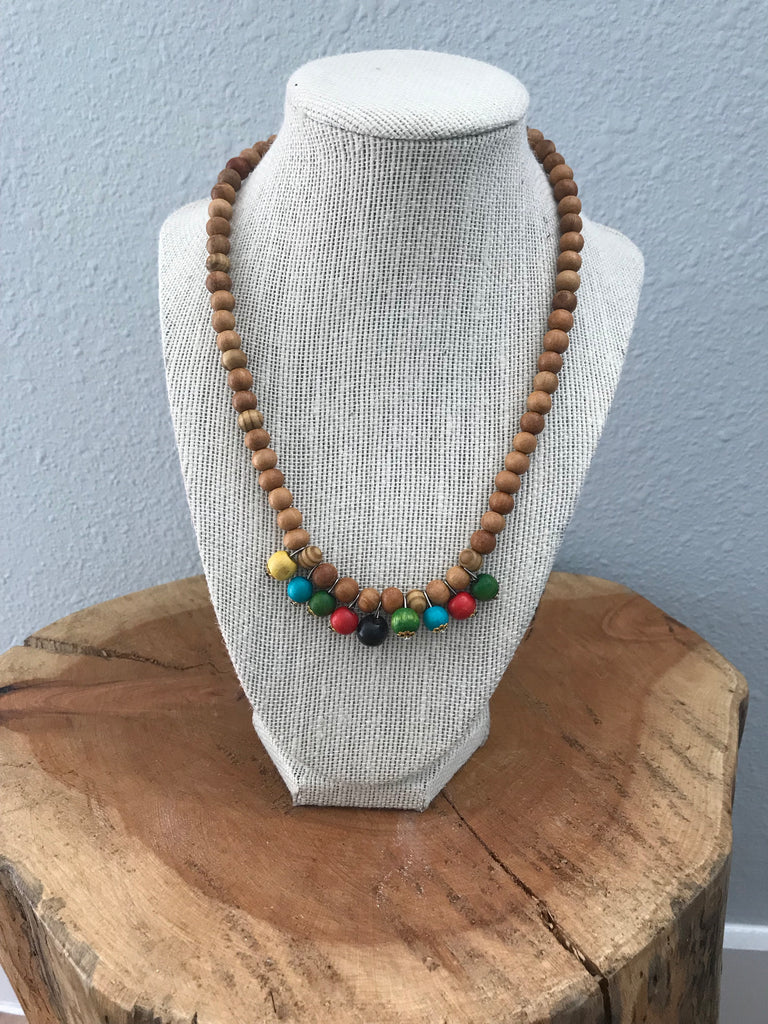 Toto Child Wood Bead Necklace Multi