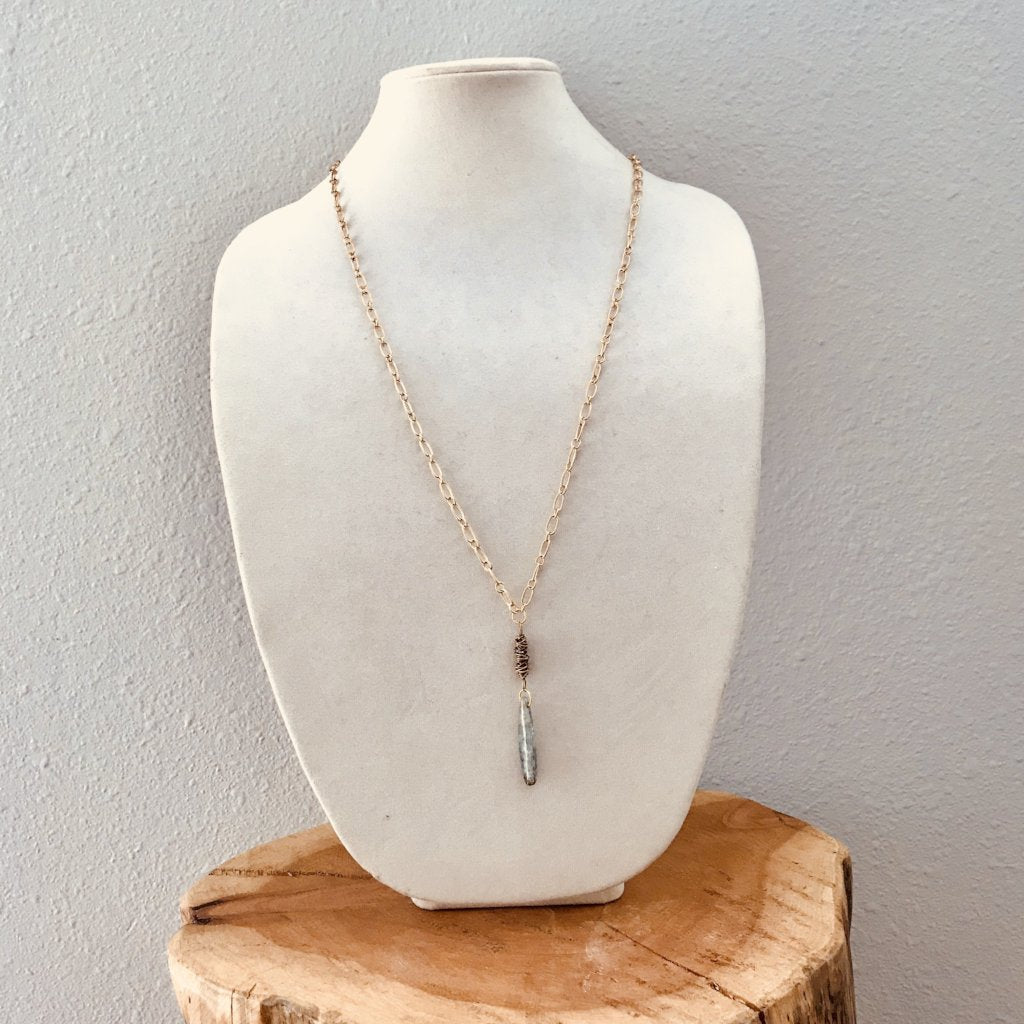 Chalcedony Pendant Drop Necklace