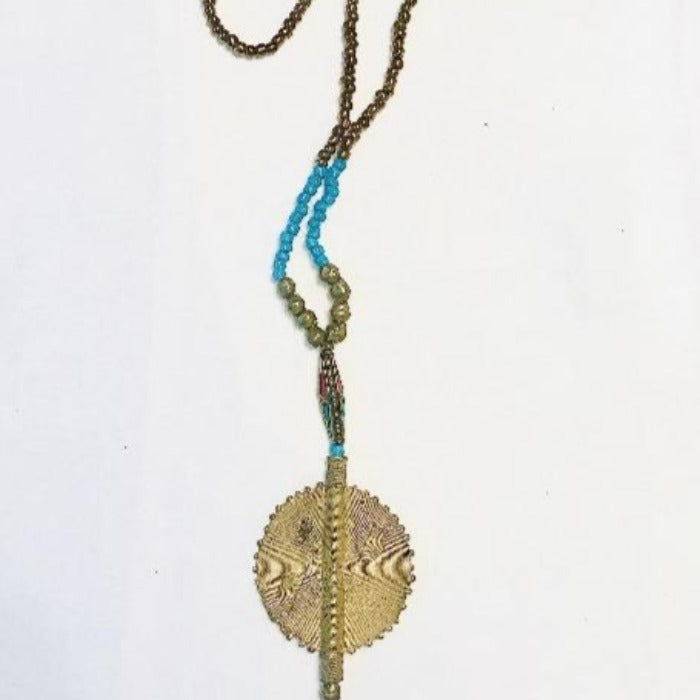 Ethiopian Brass Pendant Necklace