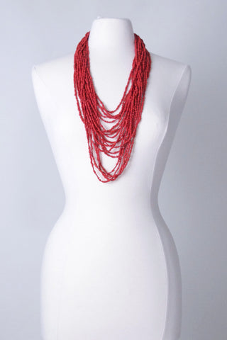 Cascade Necklace - Hot Red