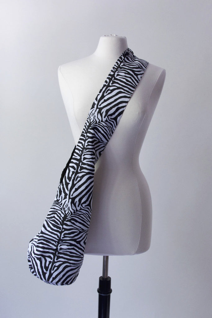 Cross-Body Fabric Bag - Zebra