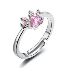 Load image into Gallery viewer, New Cat Bear Dog Paw Ring for Women Jewelry Sets