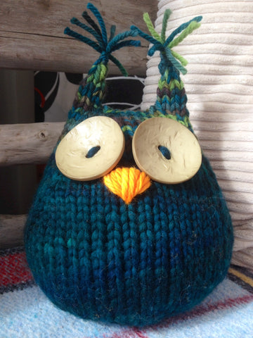 Knitting Pattern for Owl