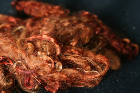Auburn Mohair - For doll hair, felting and spinning