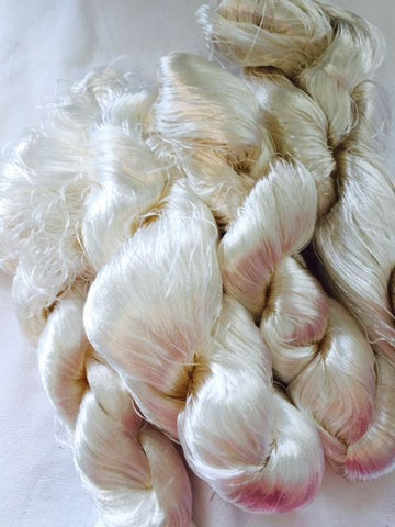 Undyed Natural Banana Silk for Spinning and Wet Felting - 10grams