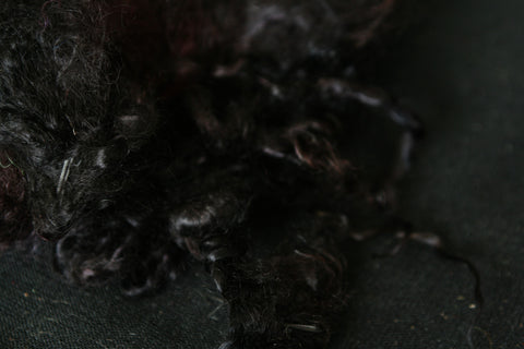 Black Mohair - For doll hair, felting and spinning