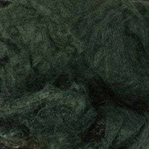 Mulberry Mawata Silk Hankies for Spinning, Knitting and Felting - Courtyard Green