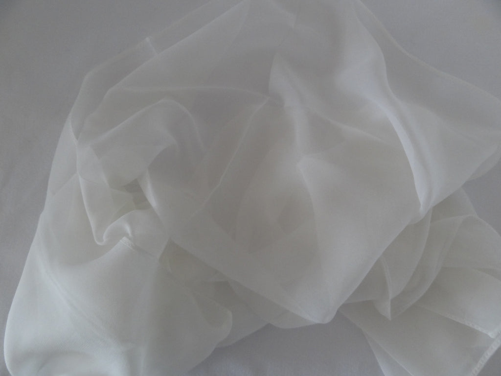 Machine Hemmed Chiffon 8-mm- 11inch x 60inch