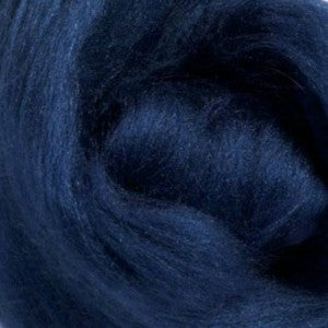 Bearing Sea (Blue) - Tussah Silk Top (Sliver)