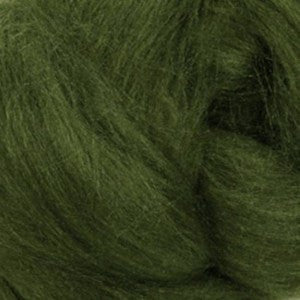 Scotch Pine (Green) - Tussah Silk Top (Sliver)
