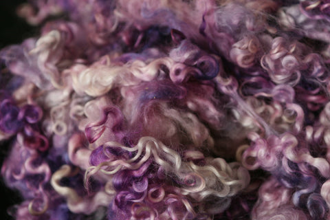 Purple Paradise - Hand Dyed Teeswater locks