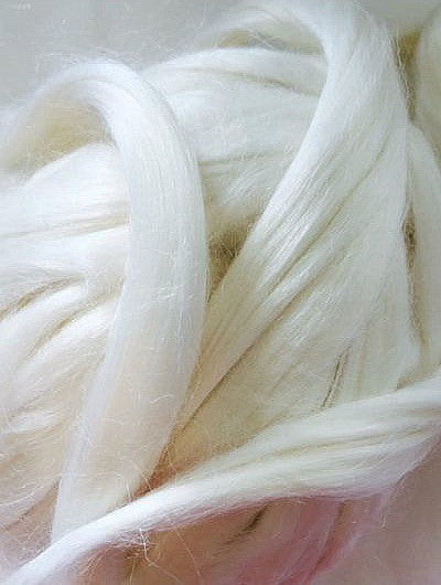 Undyed Natural banana Fibre for Spinning and Wet Felting - 10grams
