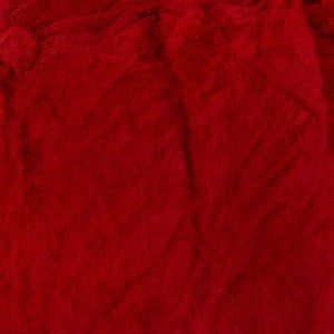 Mulberry Mawata Silk Hankies for Spinning, Knitting and Felting - Raspberry Jam - Red