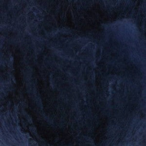 Mulberry Mawata Silk Hankies for Spinning, Knitting and Felting - Steel Blue - Dark Blue