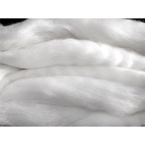 Bright White - 19 Micron Merino Wool Top (Sliver)