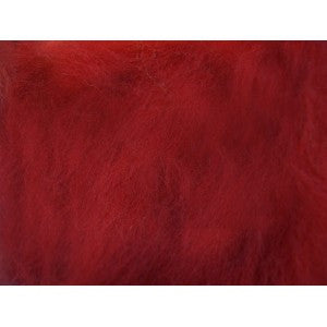 Crimson Red - 21 Micron Merino Wool Top (Combed Sliver)