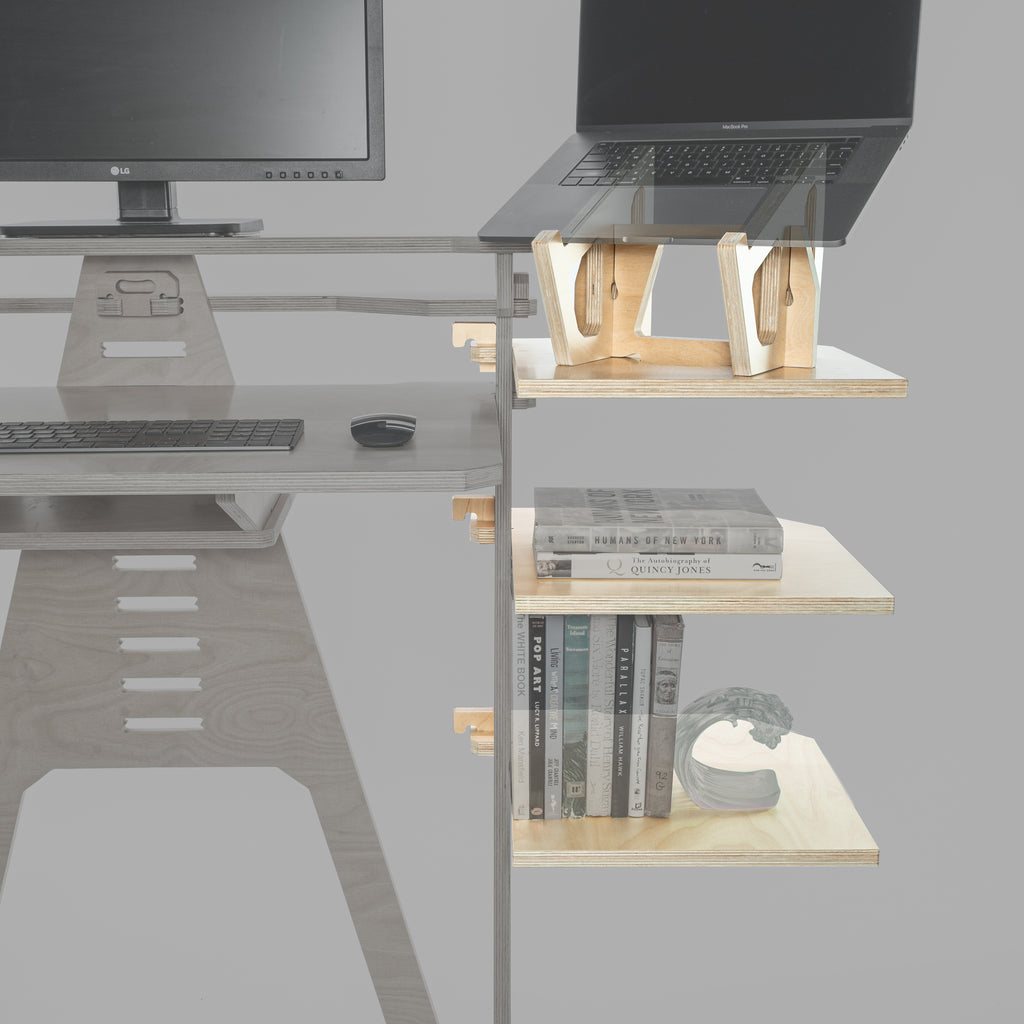 Laptop Lifter Wing & Two Wing Shelves