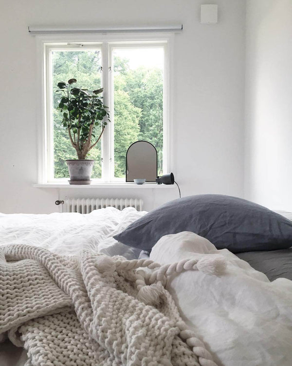 Turn your bedroom into a self-care haven with these really simple tricks on www.lovetohome.co.uk Image credit: @creamandnavy via Instagram