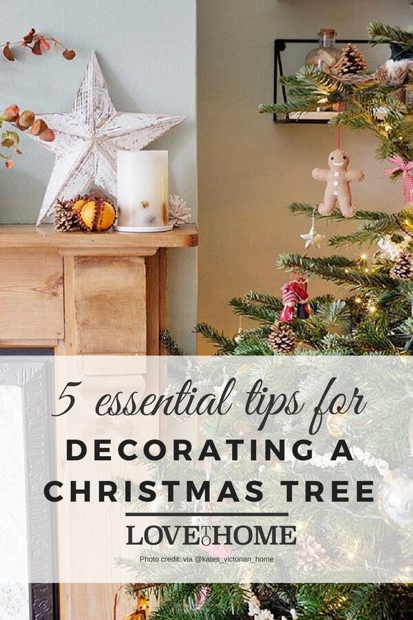 Decorating a christmas tree? Here are the essential top tips you need to keep in mind for a beautiful christmas tree this year on www.lovetohome.co.uk photo credit: @kates_victorian_home