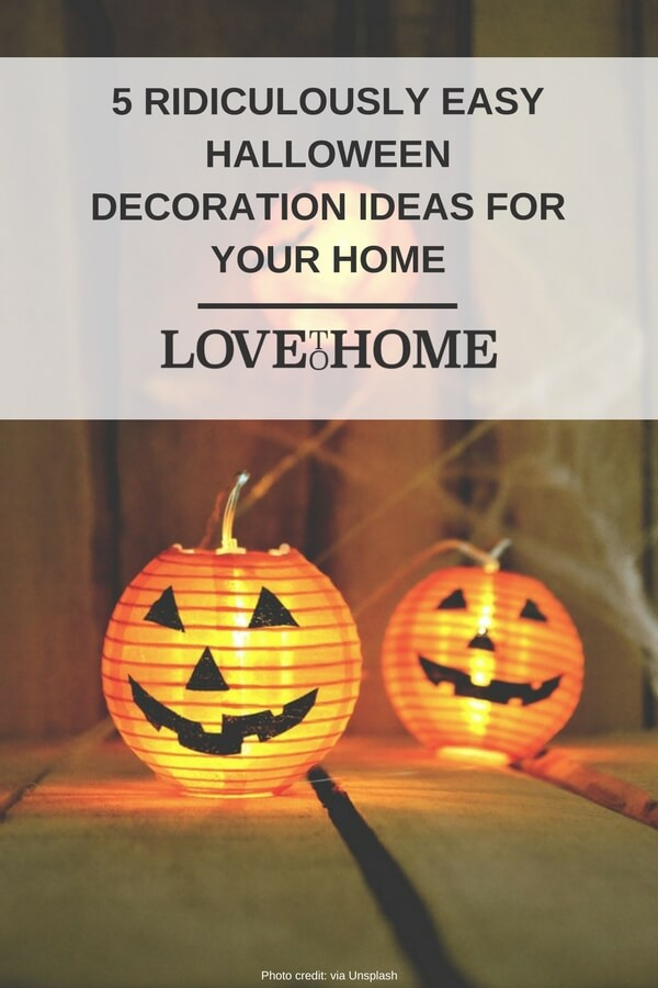 Here are five super easy halloween decoration ideas to try this year... perfect for novices! www.lovetohome.co.uk