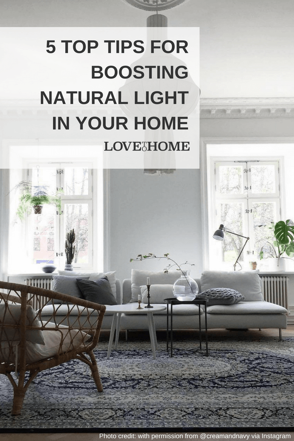Here are 5 top tips that'll help you boost the natural light in your home