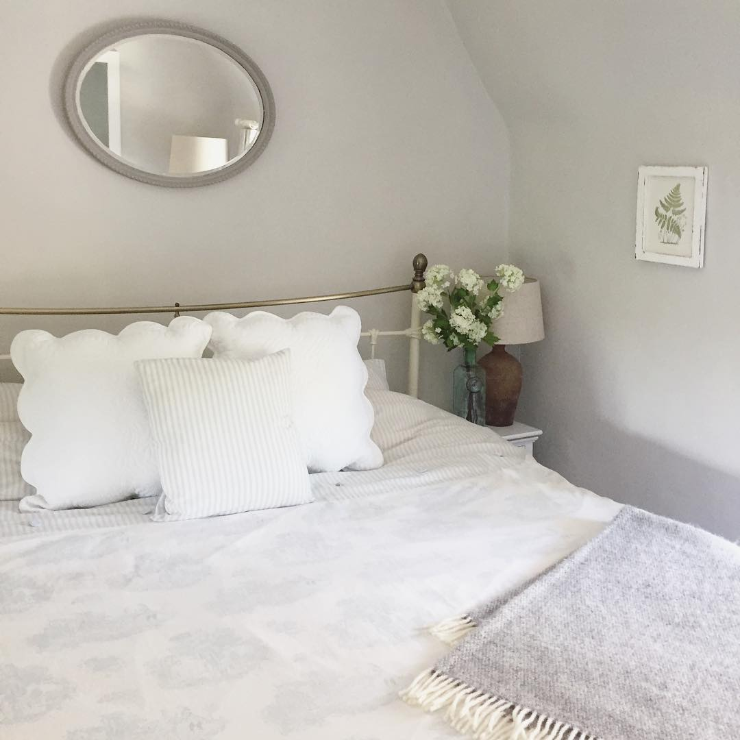 Check out this white country chic bedroom in this beautiful classic cottage. See the full home tour on www.lovetohome.co.uk
