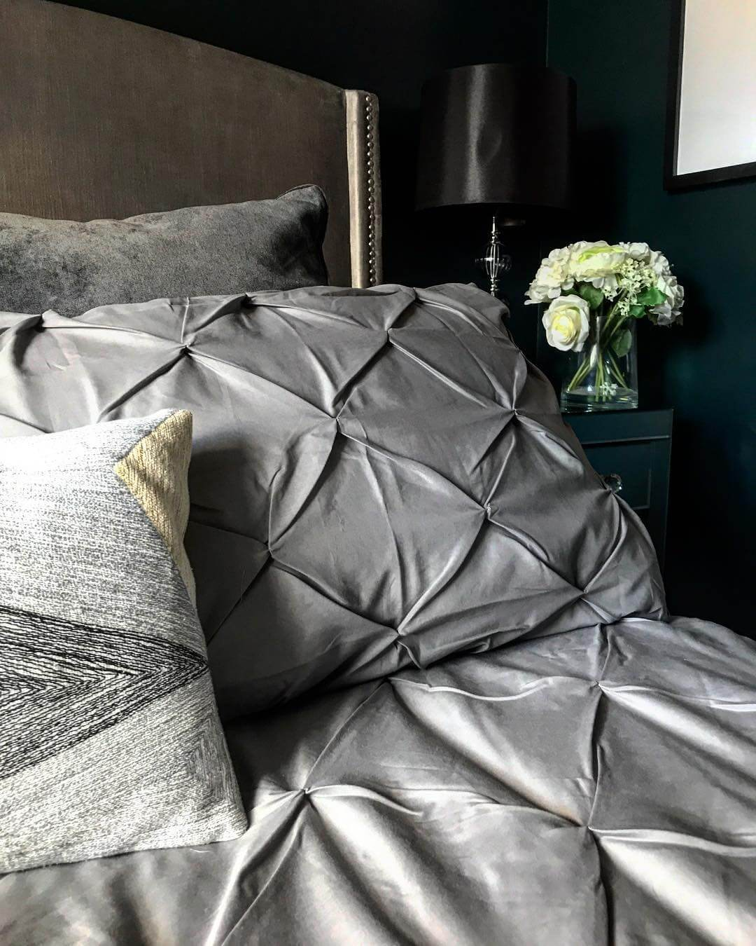 Bed linen: check out this new build home in the UK - it's eclectic, glamorous and welcoming @my_home_impression